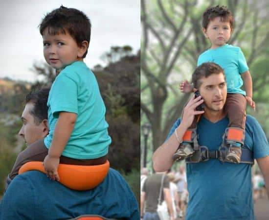 SaddleBaby - A Hands Free Shoulder Carrier For Your Child