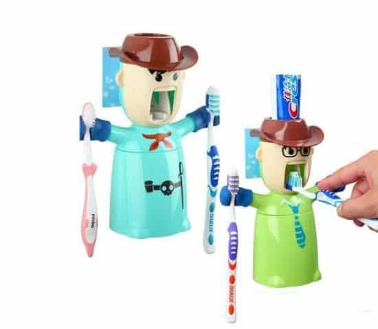 Warriors Toothpaste Dispenser & Holder