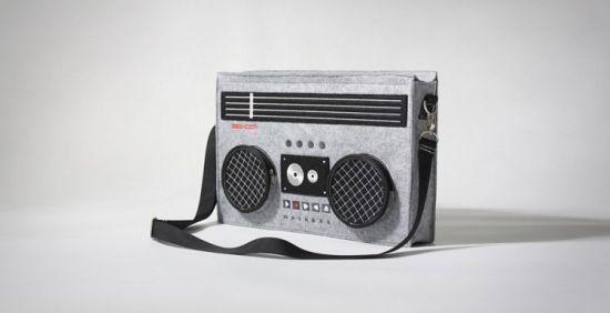 80's Boombox Messenger Bag