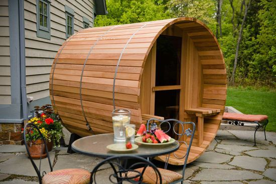 Canopy Barrel Sauna