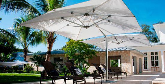 Dual Cantilever Umbrella by Tuuci
