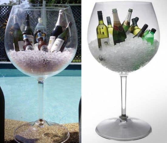 Giant Wine Glass Ice Bucket