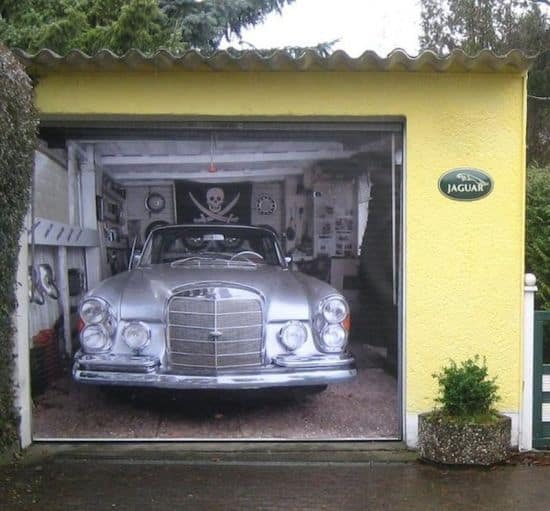 Ворота гаражные разрисовать