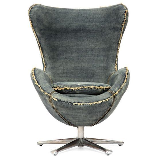 Denim Egg Chair by Arne Jacobsen