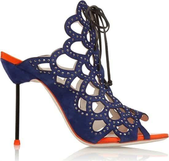 Greta Electric Embellished Suede Sandals by Sophia Webster