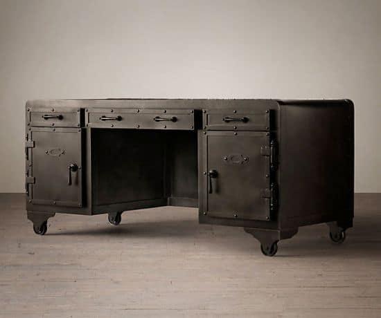 Iron Desk Built Like a 20th Century Vault