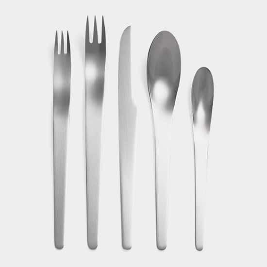 Matte Stainless Flatware by Arne Jacobsen
