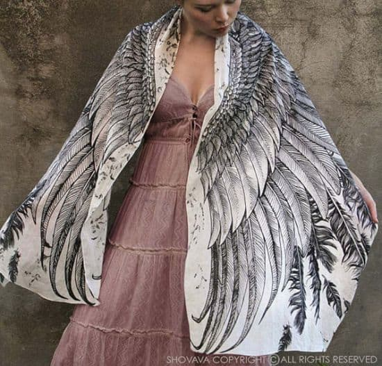 Do-WHOO Need - Owl Wing-Printed Scarves