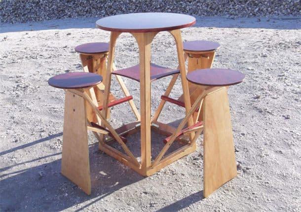 Складной столик на дачу своими руками
