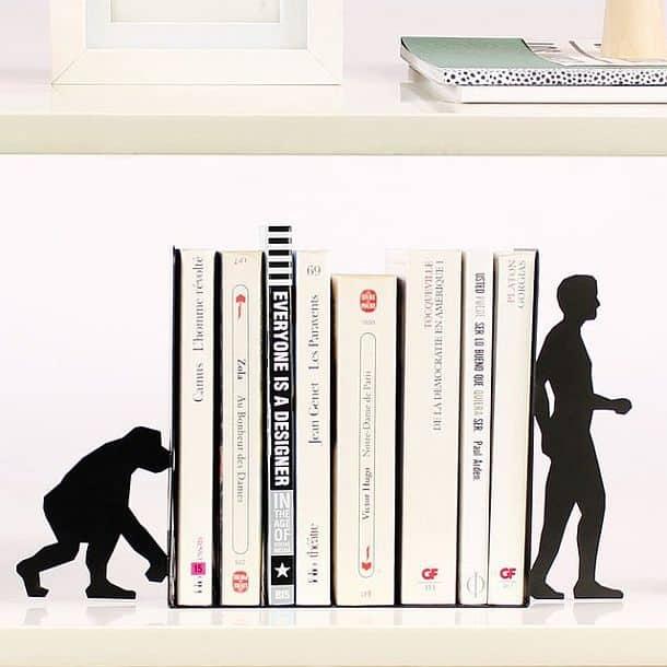 Металлические подпорки для книг «Эволюция»
